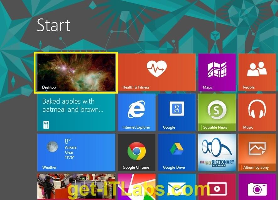 """Windows 8.1 İşletim Sisteminde Doğrudan Masaüstüne """"Sign in"""" Yapmak"""