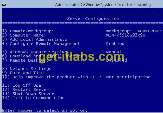 Hyper-V Server 2012 R2 Temel Ayarlar