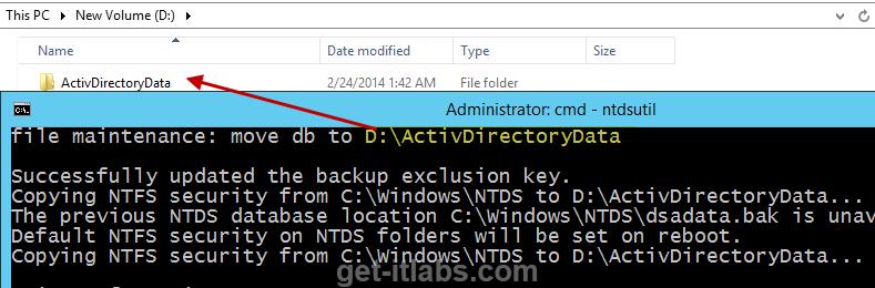 Active Directory Database'inin (NTDS.dit) ve Loglarının Taşınması
