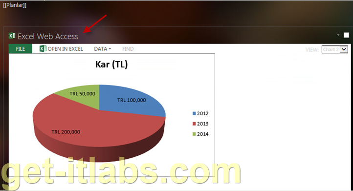 Sharepoint Excel Web Access Web Partı İle Excel Grafik Tablosu Gösterme