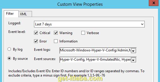 Hyper-V Server Loglarının incelenmesi