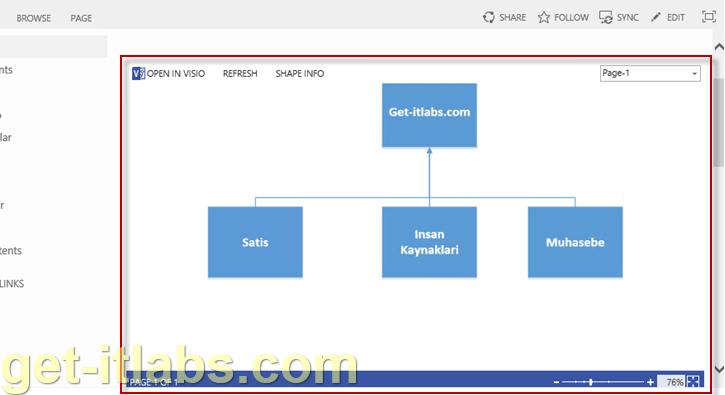 Sharepoint Visio Web Access Web Partı Ekleme