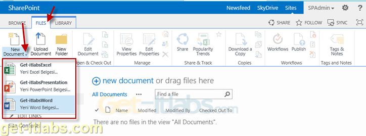 Sharepoint Document Content Types Oluşturma