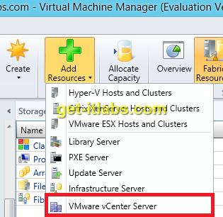SCVMM ile Vcenter-ESXi Yönetimi