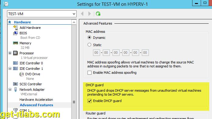 Hyper-V DHCP Guard