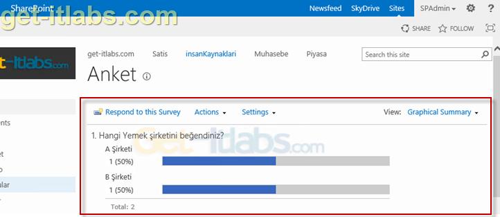SharePoint İle Anket Oluşturun ve Sitenizde Yayınlayın