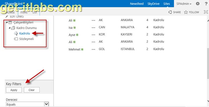 SharePoint Liste ve Kitaplıklarında Metadata Navigation ile Filtreleme-2