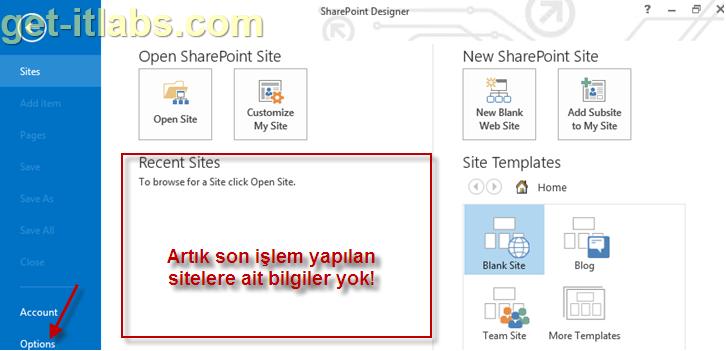 SharePoint Designer 2010 ve 2013 Önbelleğini (Cache) Temizleme
