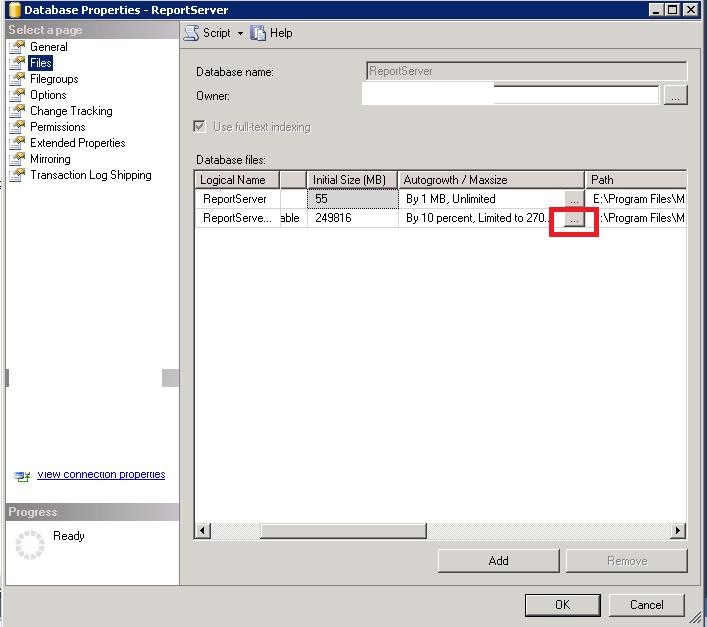 SCCM ReportServer_log.ldf Database Büyüme Sorunu