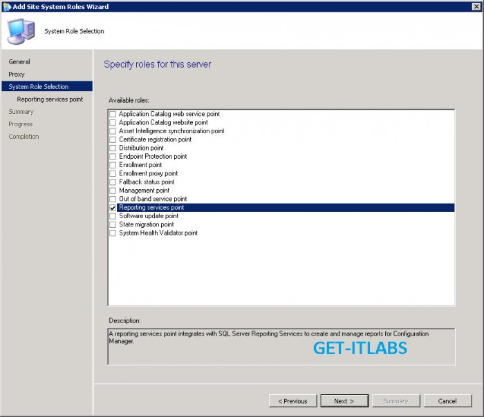 System Center Configuration Manager 2012 R2 Reporting Server Role