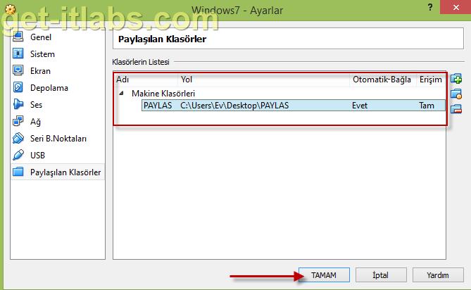 Oracle Virtualbox Sanal Makine (VM) ve Lokal Makine (Host) Arasında Dosya Paylaşımı