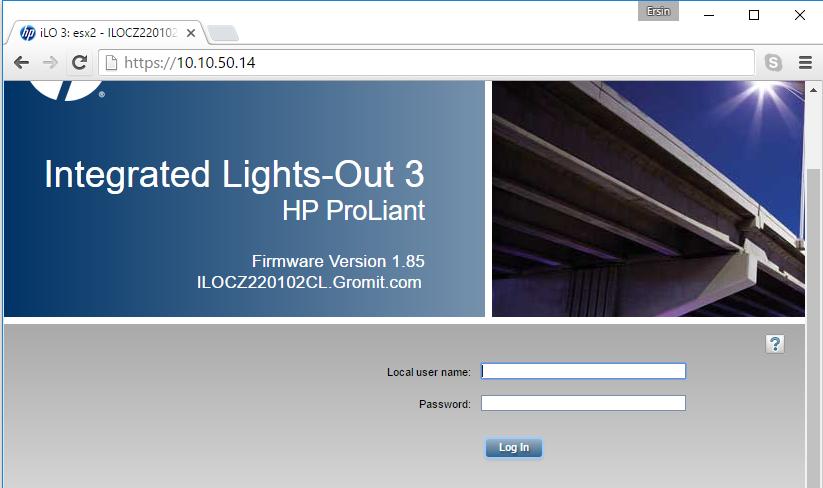 HP ILO Ayarlarının ESXi Üzerinden Yapilmasi