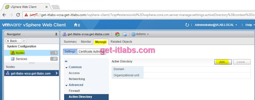 Active Directory Domain Ortamına VCSA Dahil Edilmesi